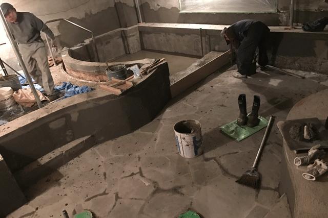 温浴施設のお風呂作り